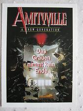 Filmplakatkarte videoplus  Amityville - A New Generation  Ross Partridge