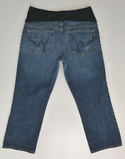 Citizens of Humanity Maternity Jeans Capris Sz 31 Stretch Denim Belly Panel COH