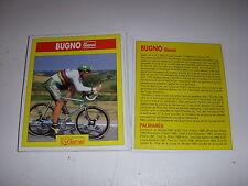 CYCLISME COUPURE 12x10 MIROIR du CYCLISME Gianni BUGNO CHAMPION du MONDE