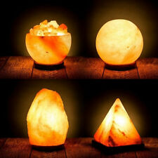 100% Authentic Hand Crafted Natural Himalayan Salt Lamp With Bulb & UK Plug Pink