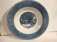 Royal China Currier & Ives Grist Mill Vegetable Serving Bowl