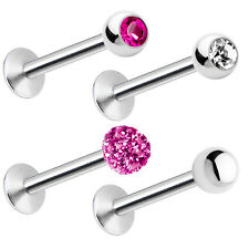 4-Pack of Labret Monroe Piercing Barbell 16ga Combo Pack
