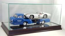 Mercedes-Benz Racing Transporter Glass and Wood Display Case