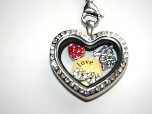 Silver Long Heart Locket Necklace for Partner/Girlfriend/Wife