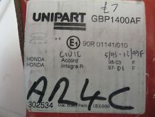 honda civic accord integra front brake pads