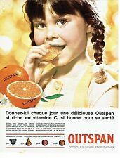 PUBLICITE ADVERTISING 037  1964   les oranges Outspan vitamines C
