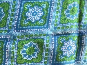 VTG Flowy Silk Blend? Scarf Blue Green Lavender Retro Geometric Unbranded
