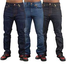 Mens Jeans Firetrap Durable Straight Leg Regular Fit Casual Denim Jeans