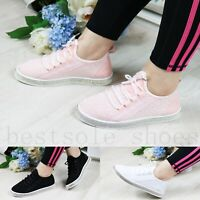 WOMEN LADIES DIAMANTE RUNING TRAINERS FITNESS LIGHT WEIGHT GYM SPORT SHOES SIZE