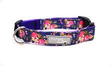 Sasha Rose Floral Handmade Dog Collar OR Lead Size Small - Large