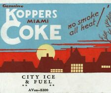 1930s Koppers Miami Coke Foundry Stove Coal City Ice & Fuel Cincinnati OH VTG
