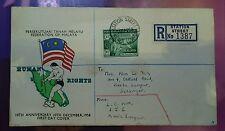 Malaysia 1958 10th Anniversary Human Rights Malaya FDC  1v stamp type 2