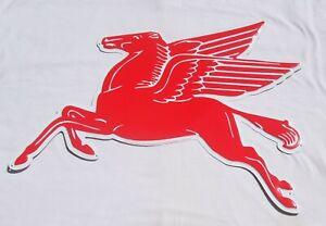 Mobil Tankstellen Pegasus Logo Metall Schild XXL Format USA Import