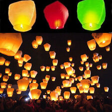 Newly 1Pcs Chinese Lantern Sky Fly Candle Fire Wish Party Wedding Light Decor