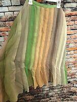 "NWT Alfani Women's 100% Pure Silk ""Caracas"" Multi-Colored Skirt, Size 18W, $99"
