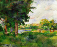 Landscape Paul Cezanne Painting Print on CANVAS Fine Art Giclee Repro Small 8x10