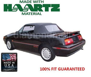 Ford / Mercury Capri Convertible soft Top Fits: 1990-June 1992 Black Stayfast