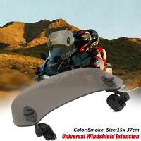 Motorrad Windschutzscheibe Extension Spoiler Windschild Einstellbar Rauch DE
