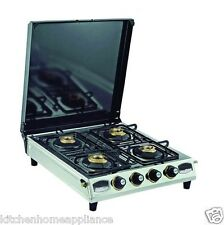 4Burner Gas Stove Stainless Steel Four burner Gas Stove With Lid