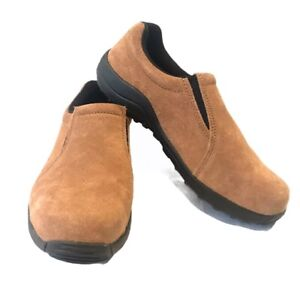 Mens Size 14D Slip On Brazos Steel Toe Loafers Safety Shoes ASTM Oilfield Work