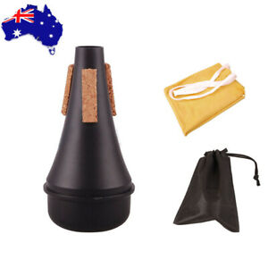 Musical Accessoy Trumpet Practice Mute Silencer + Cleaning Cloth and Bag Storage