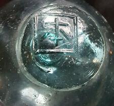 "Japanese Blown Glass Float 2"" Wp Mark 257 Aqua Vintage"