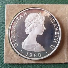 Gibraltar Silbermünze 1 Crown 1981 - Elizabeth II - PP