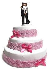 Romantic Resin Wedding Cake Topper Figure Gay Lesbian LGBTI Bridal Couple