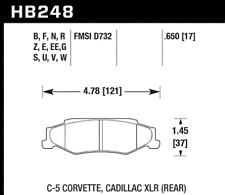 Hawk Disc Brake Pad Rear for Cadillac XLR, Chevrolet Corvette / HB248G.650