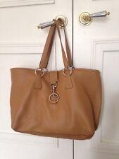 Miu Miu Brown Leather Large Tote Handbag