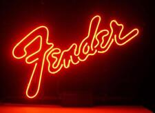 "New Fender Guitar Neon Sign 20""x16"""