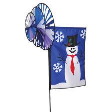 Winter Snowman Triple Spinner Staked Wind Spinner Pole mount.19. Pr 25825