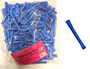 "Hair Perm Rods Non Slip 3"" Long (BLUE) w/ elastic band 1 LB BAG"