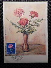 SCHWEIZ MK 1963 790 BLUMEN NELKE FLOWERS MAXIMUMKARTE MAXIMUM CARD MC CM a7790