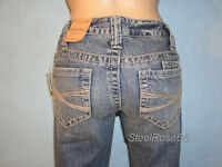 NEW Aeropostale Junior Girls Chelsea Low-Rise Boot Cut Denim Blue Jeans 00 S