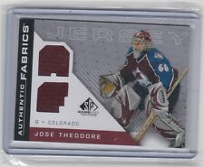 2007-08 UPPER DECK SP GAME USED JOSE THEODORE AUTHENTIC FABRICS JERSEY
