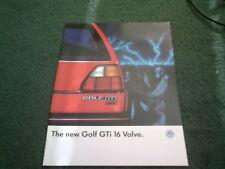 1986 VW GOLF GTi 16V 16 VALVE 3 DOOR - 3/86 UK 12 PAGE COLOUR BROCHURE