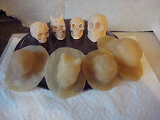 4 SMALL SKULL MOULDS/MOLDS MADE WITH LATEX RUBBER.SIZE FROM 30mm TALL