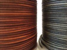 Calidad de Antigua De Cuero Natural Marrón Y Negro Cable 2m-5m disponible Tanga Cable