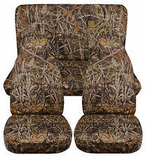 1987-1995 Jeep Wrangler YJ Seat Covers / Wetlands Camo Front and Rear