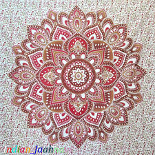 Traditional Lotus Mandala Tapestry Home Decor Wall Hanging Ethnic Bed Sheet New