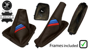 BROWN LEATHER M MANUAL BOOT SET +PLASTIC FRAME FOR BMW E36 3 SERIES 91-99
