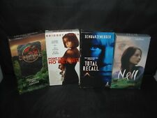Vhs Movies (4) Point of No Return-The Lost World-Total Recall-Nell