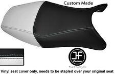 WHITE BLACK VINYL CUSTOM FOR HONDA CBR 1100 XX SUPER BLACKBIRD 96-07 SEAT COVER