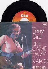 """TONY BIRD SHE CAME FROM THE KAROO UNIQUE 1976 RECORD YUGOSLAVIA 7"""" PS SINGLE"""