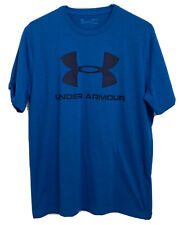 Under Armour Heat Gear Mens Medium Blue Loose Fit S/S Work Out Tee Shirt