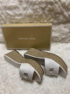 Michael Kors Shoes.  Brady Platform Saffiano Pvc Optic White Size 7.5