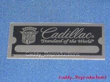1930 - 1966 Cadillac Firewall / Door Jamb I.D. Plate Tag - Small