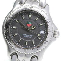 TAG HEUER S/el WG1213-K0 Date gray Dial Quartz Boy's Watch_602951