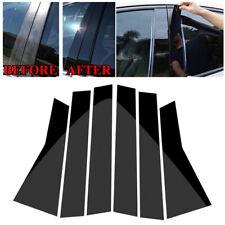 6Pcs Car Black Window Pillar Trim Cover For Honda CR-V CRV 2017-2018 Accessories